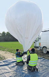 Preparing IRSN's captive balloon for high-altitude tracer gas measurements