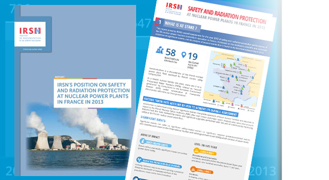 Overall assessment on safety and radiation protection of the French nuclear power plant fleet in 2013