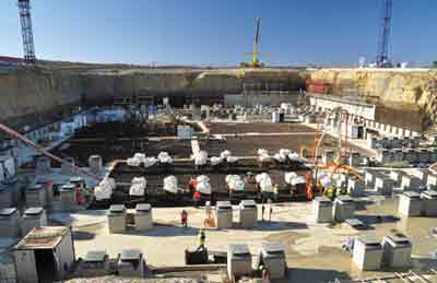 The seismic isolation pit of the tokamak complex in Cadarache. @ Iter Organization