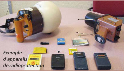 Exemples d'appareils de radioprotection