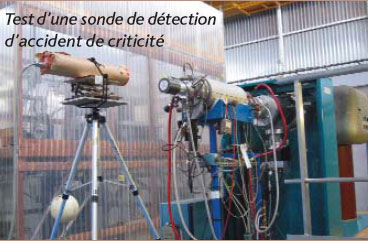 Test d'une sonde de détection d'accident de criticité